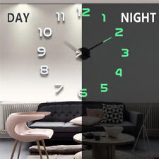 Wall Clock DIY 3d Modern Large Deco Mirror Sticker Home Surface Art Watch 2020🔥