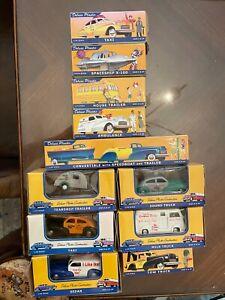 """American Dimestore Dreams cars, trailers, spaceship, milk truck, """"I like Ike"""""""