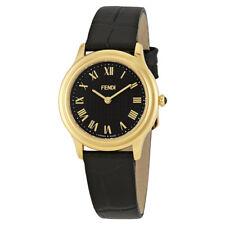 Fendi Classico Black Dial Ladies Leather Watch F250431011