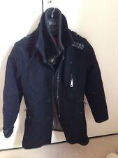 Superday Small Double Black Jeremy Street Pea Coat