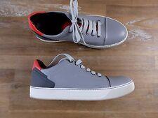 LANVIN Paris low top gray lambskin sneakers authentic - Size 8 US / 41 EU / 7 UK