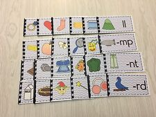 The Blue Series - 24 Ending Consonant Blends Booklets - Montessori