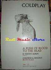 CARTONATO PROMO COLDPLAY A rush of blood to the head 48 X 68 cd dvd vhs lp live