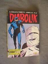 DIABOLIK ORIGINALE ANNO XIX n° 12 - 1980 - RARO - OTTIMO