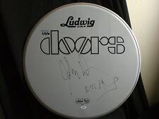 "The Doors John Densmore Signed 22"" Ludwig Drumhead PSA Certificate Morrison RARE"