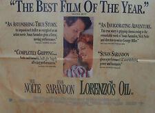 Nick Nolte Susan Sarandon LORENZOS OIL(1993)  Original movie poster