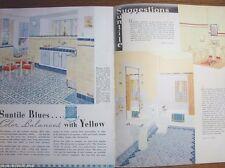 1938 SUNTILE Cambridge Tile Mfg ART DECO Design Kitchen Bathroom Vintage Catalog