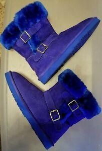 LAM Suede Women's  Cobalt Blue Boots Women's size 8.5