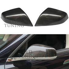 Carbon Fiber Mirror Covers Caps Add on Style for Tesla S Model S 2012 - 2017 UP