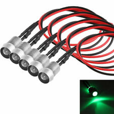 5x Green LED Indicator Light Lamp Pilot Dash Directional Car Motorcycle Boat 12V