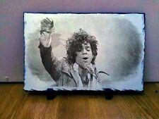"Musician Singer Prince Art Portrait on Slate 12x8"" Rare memorabilia collectables"