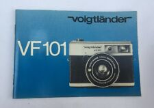 Original Voigtlander VF101 Camera Instruction Manual Book Genuine