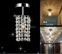 Modern Crystal Mini Chandelier Hallway Ceiling Lamp Closet Pendant Light Fixture