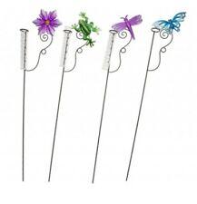 More details for garden rain gauges x 2 decorative flower butterfly dragonfly frog rainfall