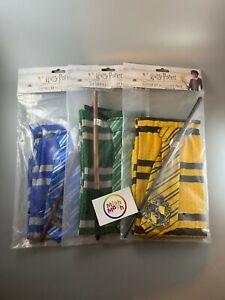 kids Harry potter costume dress up slytherin hufflepuff ravenclaw wand scarf tie