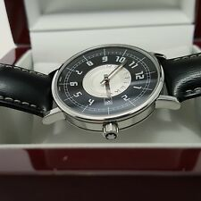 MONTBLANC Summit 7045 Stainless Steel Men's Watch with Leather Band, NEAR MINT!