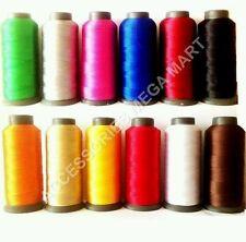 12 Viscosa seta arte rayon ricamo sweing filo molti base colori assortiti