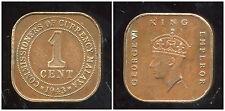 MALAISIE 1 cent  1943  ( bis )
