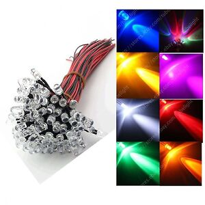 20PCS LED Lamp Light Bulb 18cm Pre Wired 5mm 24V DC Emitting Diode Super-Bright