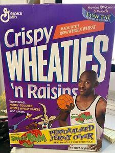 MICHAEL JORDAN 1996 Crispy Wheaties Cereal Box Space Jam Bulls Unopened