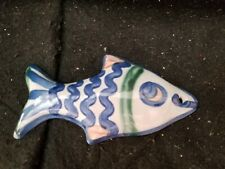 "M.A. HADLEY POTTERY 6"" fish  wall plaque art"