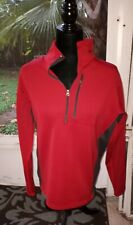 Avia Fleece Lined Ladies Pullover Media Pocket 1/2 Zip