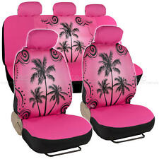 Pink Palm Tree Seat Cover for Car SUV Front Rear Set