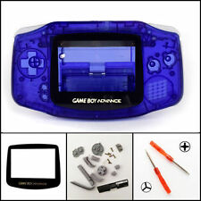 GBA Nintendo Game Boy Advance Replacement Housing Shell Screen Lens Clear Blue