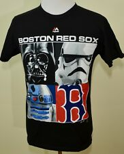 Red Sox Star Wars shirt black medium Darth Vader Storm Trooper R2D2 Mlb baseball