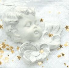 2 Serviettes en papier Ange endormi Decoupage Paper Napkins Peaceful Angel