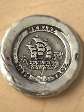 "1 Troy Oz MK BARZ ""Viking Dragon Ship"" ROUND .999 FS"
