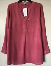 Woman Within Women's Plus Size L (18/20) Rayon Long Sleeve Top Blouse NWT