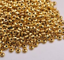 100PCS Tibetan Silver Beads Charm Jewelry Findings 4MM CA3080