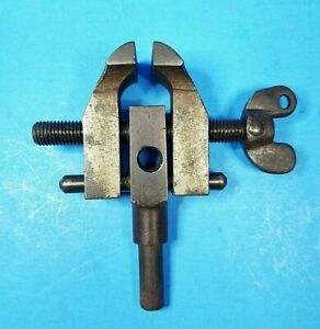 """Vintage Vice Machinist Toolmaker Pin Mount Threaded Side Port 1 1/4"""" Opening"""