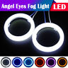 60mm/70mm/80mm/90mm/100mm/110mm Car COB LED Angel Eyes Halo Ring Fog Light AH 2X