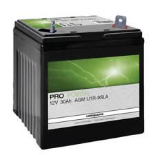 AGM U1-9R Batterie 12V 30Ah befüllt +Pol rechts Rasentraktor