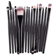 15 pcs/Sets Eye Shadow Foundation Eyebrow Lip Brush Makeup Brushes Tool BK