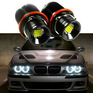 For BMW E39 E60 E63 E65 160W White LED Angel Eyes Halo Ring Marker Bulbs