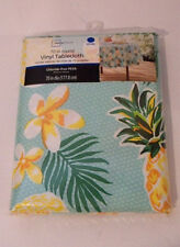 "Mainstays Tropical Summer Pineapple Vinyl 70"" Round Tablecloth  - NIP"