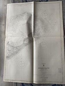 Orig Nautical Chart Map Bermuda Island - Eastern Sheet 335 Issued 1940