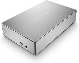 LaCie 6TB Porsche Design Desktop Drive External Hard Drive HDD Silver USB-C