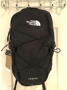 NWT The North Face Jester Black Backpack With White Logo $69