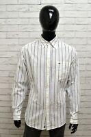 Camicia WRANGLER Uomo Taglia Size XL Maglia Chemise Shirt Man a Righe Cotone