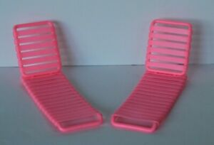 Mattel Barbie Accessories Vintage Arco 1986 Chaise Lounge Lawn Chair Pink