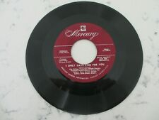 BILLIE HOLIDAY - I ONLY HAVE EYES FOR YOU MECURY RARE JAZZ 45