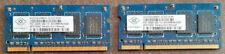 2 x NANUA NT512T64UH8BDFN-3C PC2-5300S-555-12 DDR2 512MB SODIMM Laptop - C