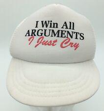 I Win All Arguments I Cry Infant Toddler Size Humor Snapback Trucker Hat