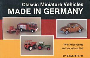 Miniature German Toys - Conrad Cursor Gama Marklin Schuco Etc. / Book + Values