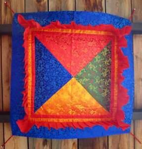 Tibetischer Baldachin Deckenbehang - 78 x 78 cm - Handarbeit aus Nepal