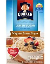 Quaker Lower Sugar Maple & Brown Sugar Instant Oatmeal 10 ct, 1.19 oz. Cereal